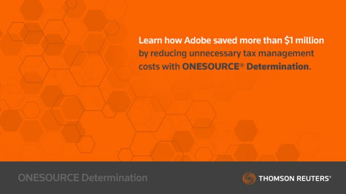 Adobe® Transforms Their Global Indirect Tax Process With ONESOURCE™ Determination